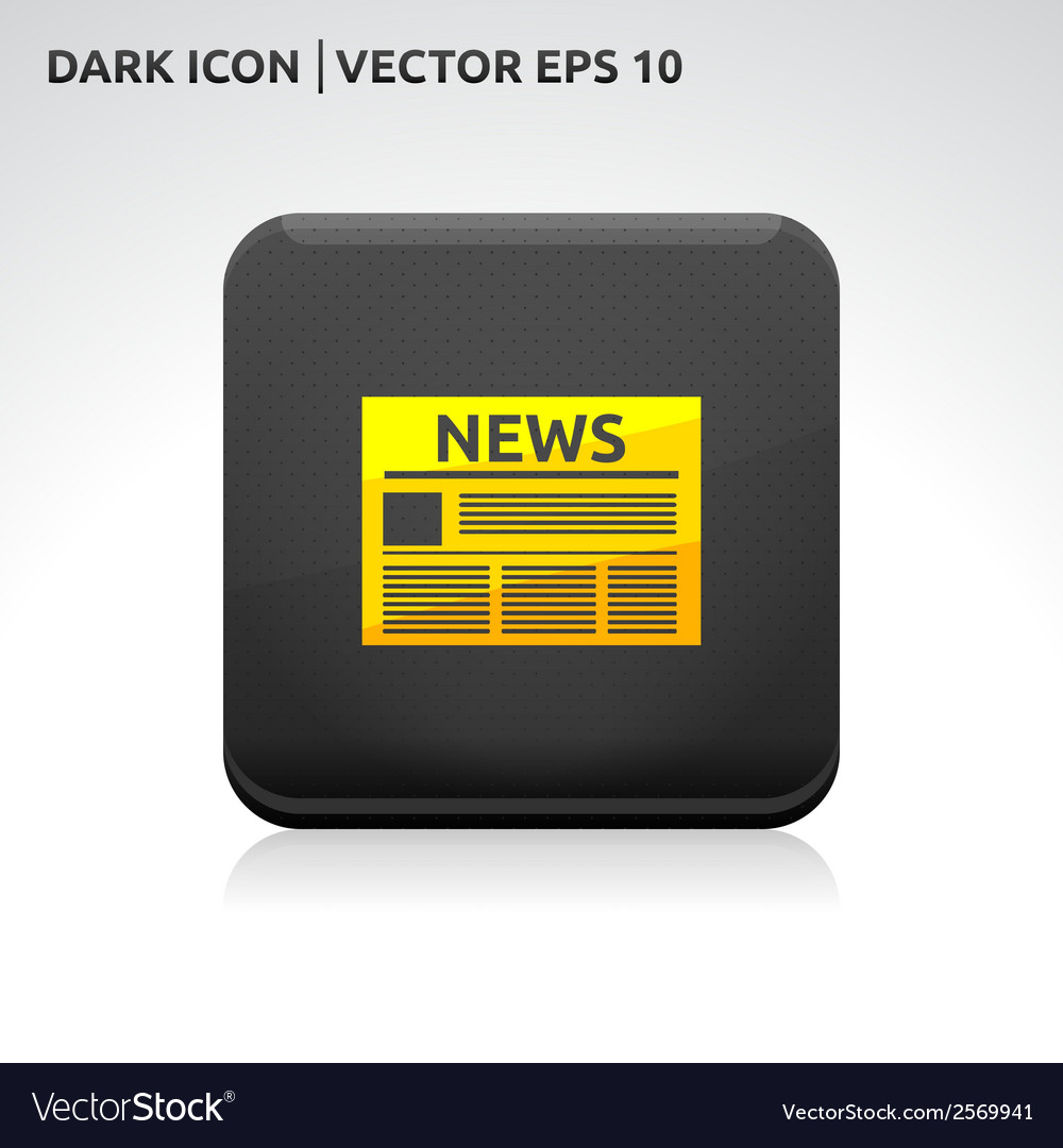 News icon gold vector | Price: 1 Credit (USD $1)