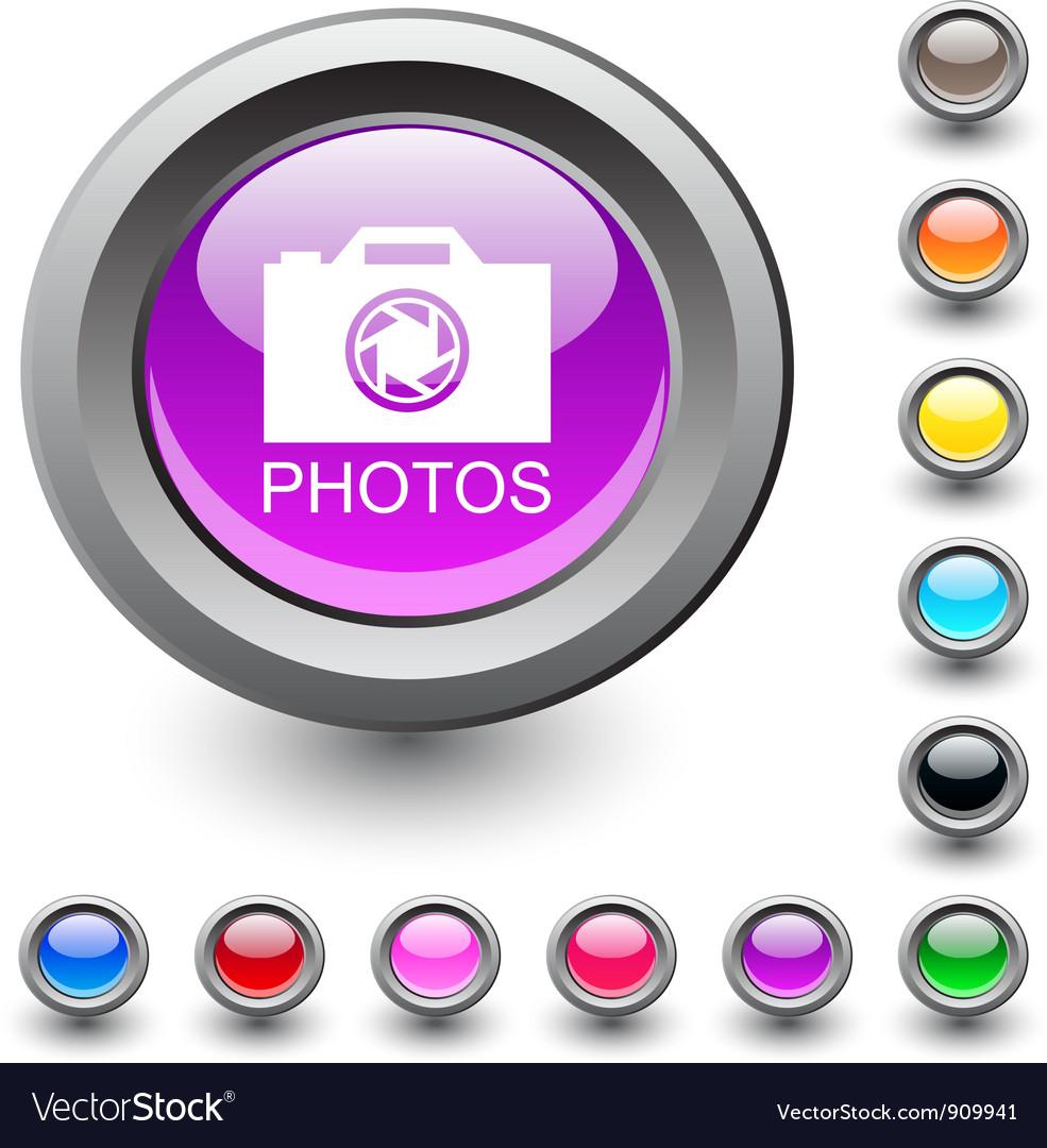 Photos round button vector | Price: 1 Credit (USD $1)