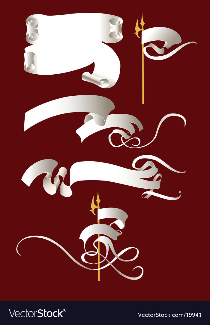 Scroll banner vector | Price: 1 Credit (USD $1)