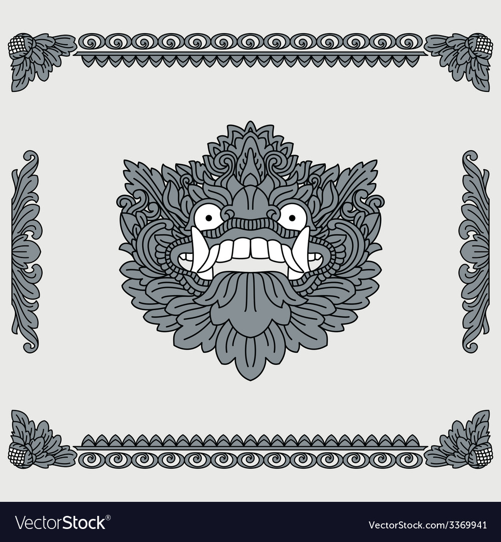 Traditional indonesian art head of deity and vector | Price: 1 Credit (USD $1)