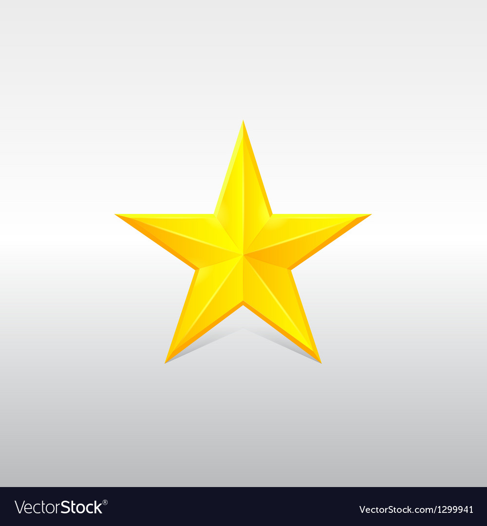 Yellow star for rank vector | Price: 1 Credit (USD $1)