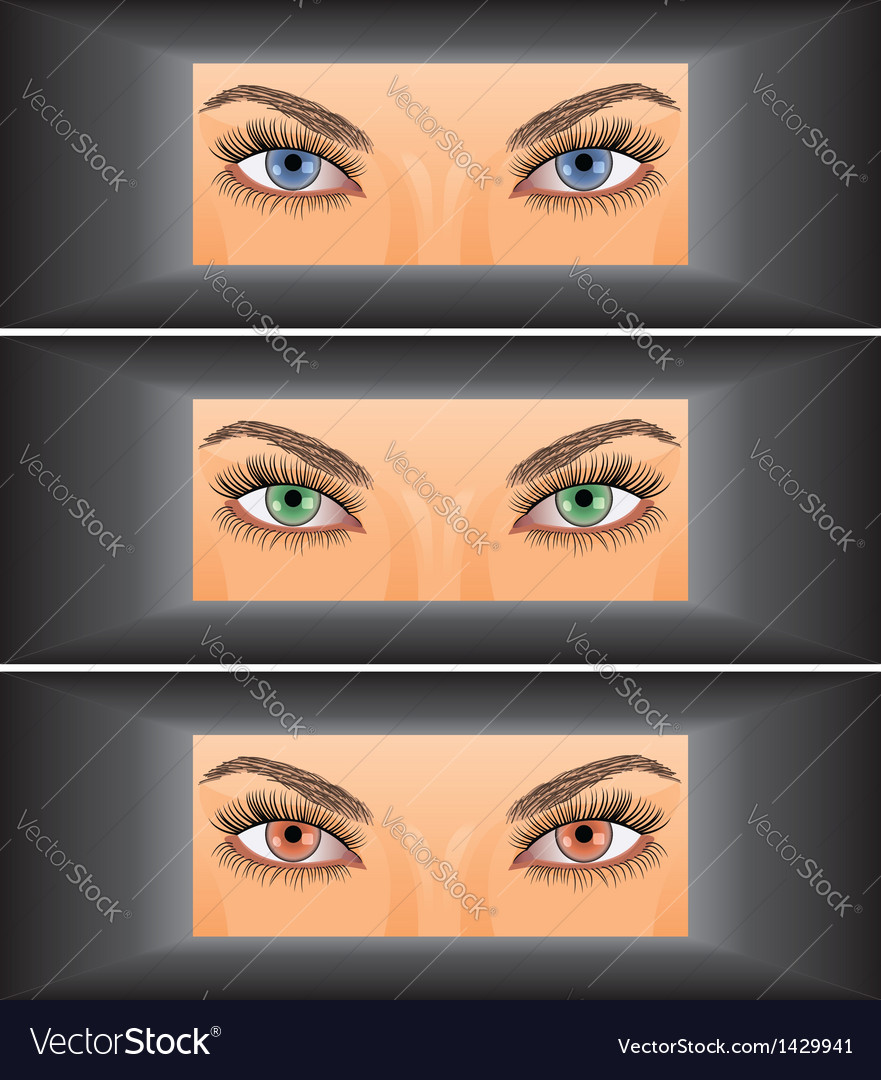 Young woman looking through vector | Price: 1 Credit (USD $1)