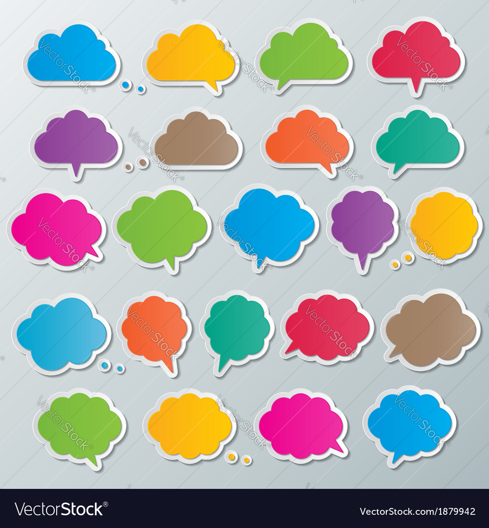 Cloud speech bubbles vector | Price: 1 Credit (USD $1)