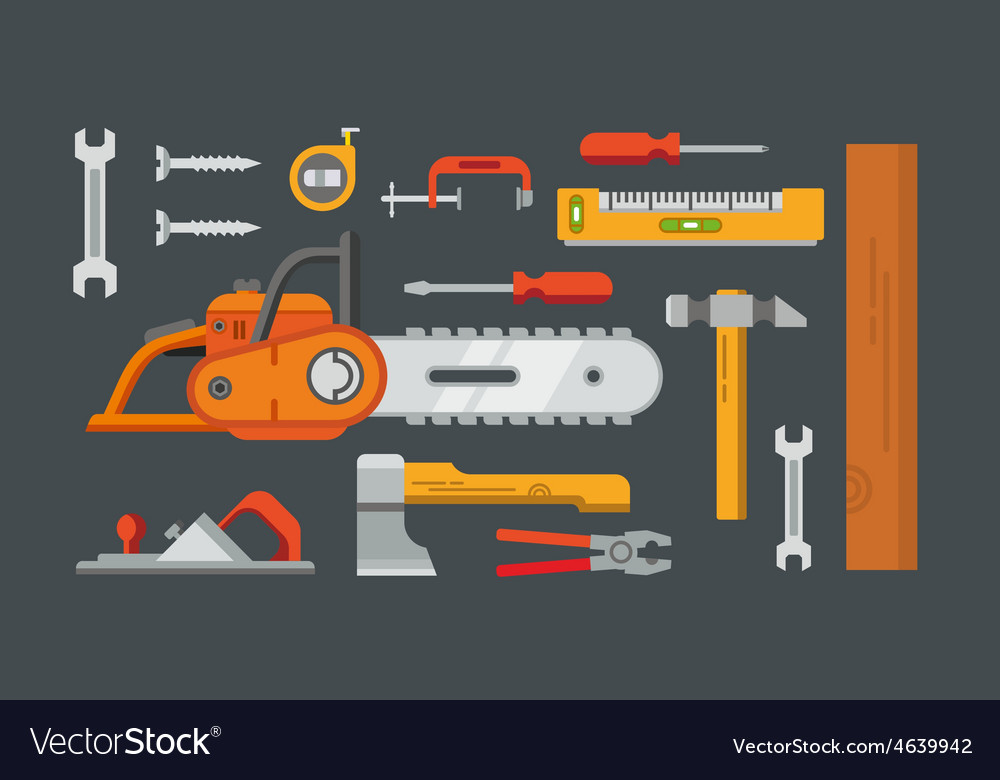 Construction tools objects vector | Price: 1 Credit (USD $1)