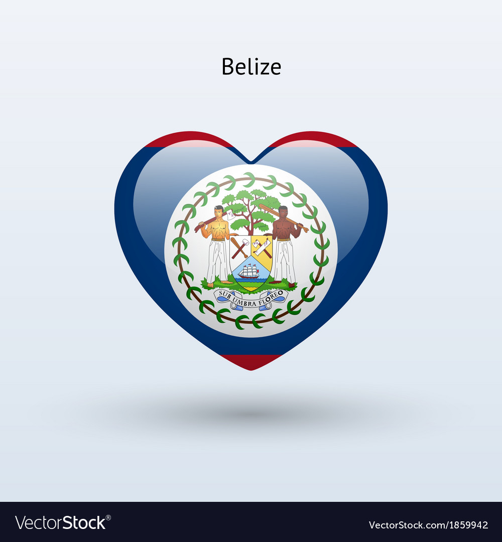 Love belize symbol heart flag icon vector | Price: 1 Credit (USD $1)