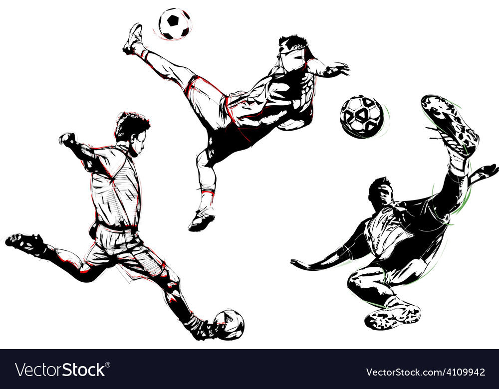 Soccer trio vector | Price: 1 Credit (USD $1)