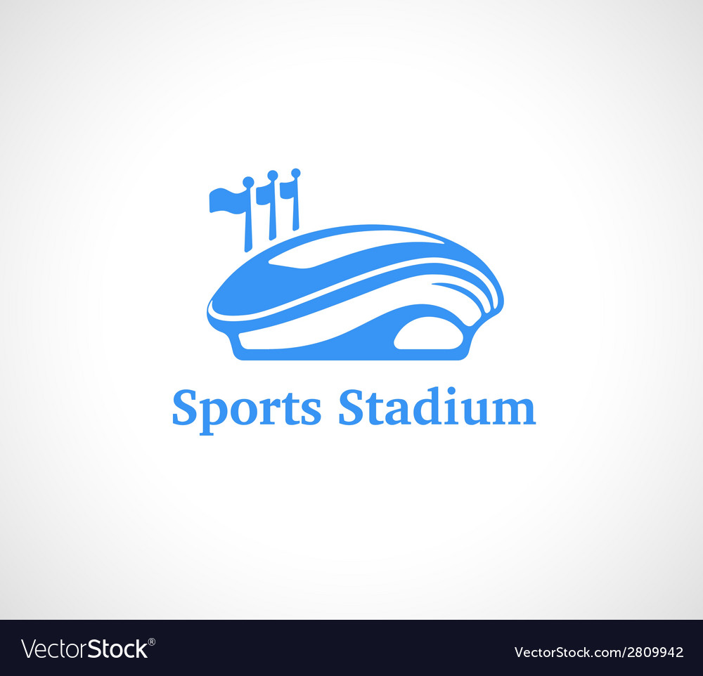 Sports stadium logo in blue vector | Price: 1 Credit (USD $1)