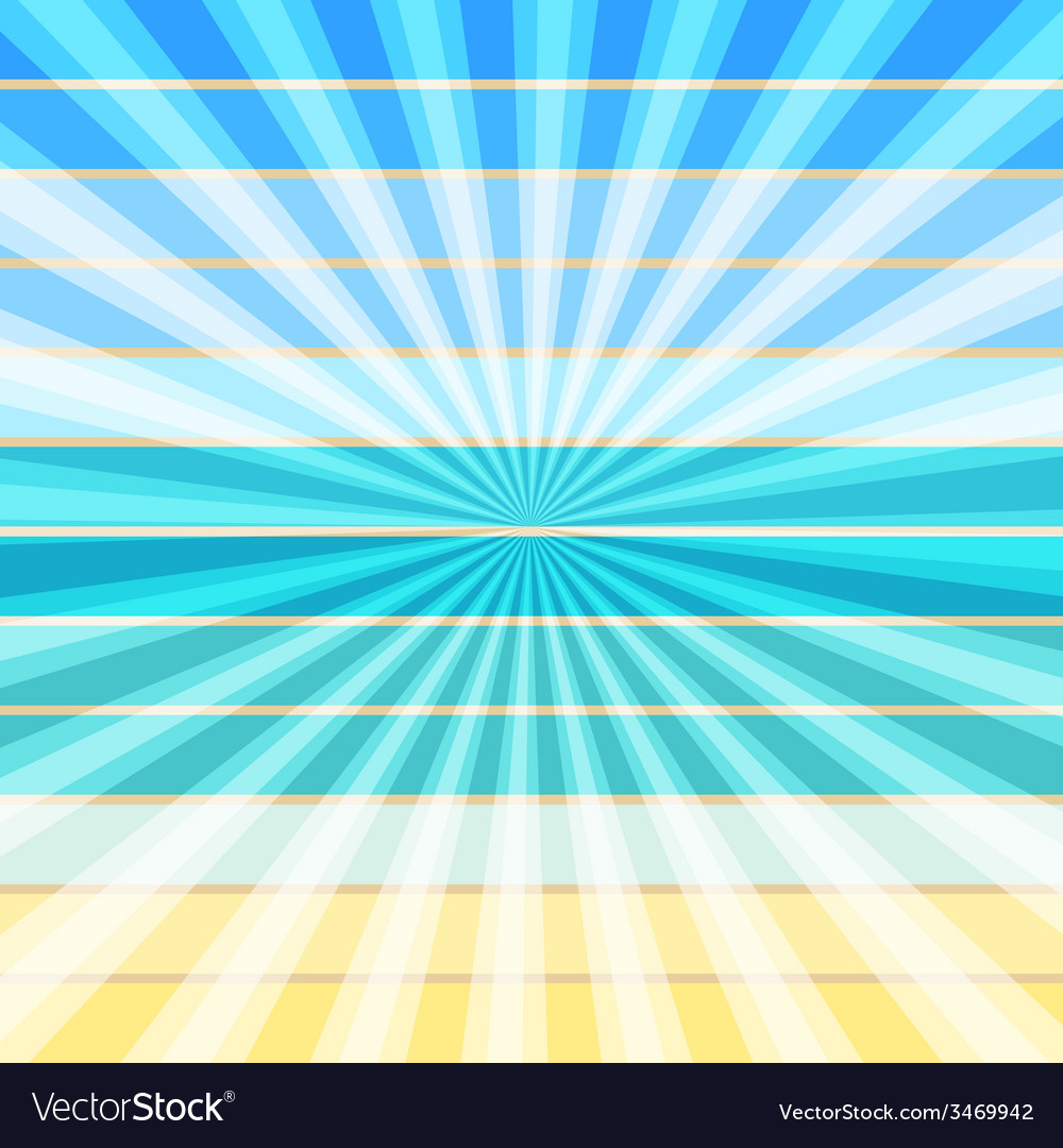 Summer rays holiday vintage on light sea vector | Price: 1 Credit (USD $1)