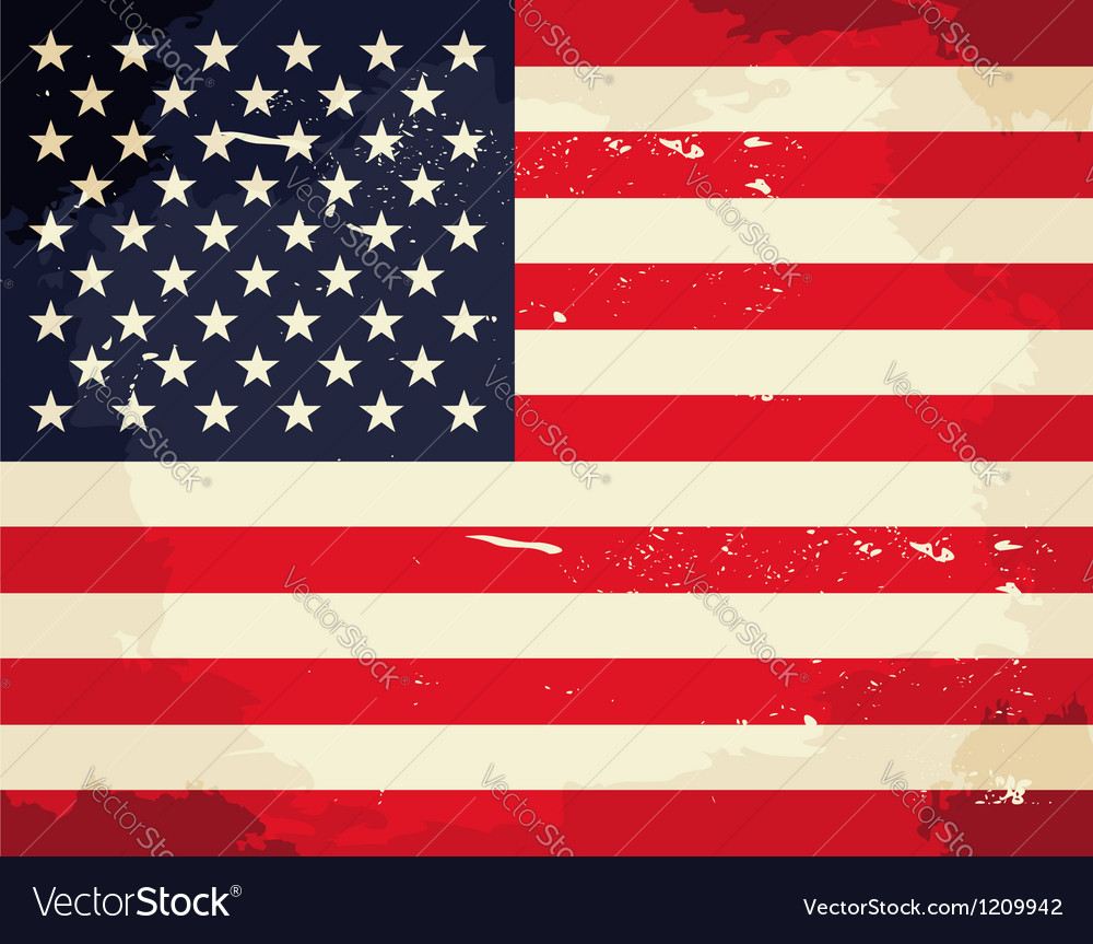 Vintage american flag vector | Price: 1 Credit (USD $1)