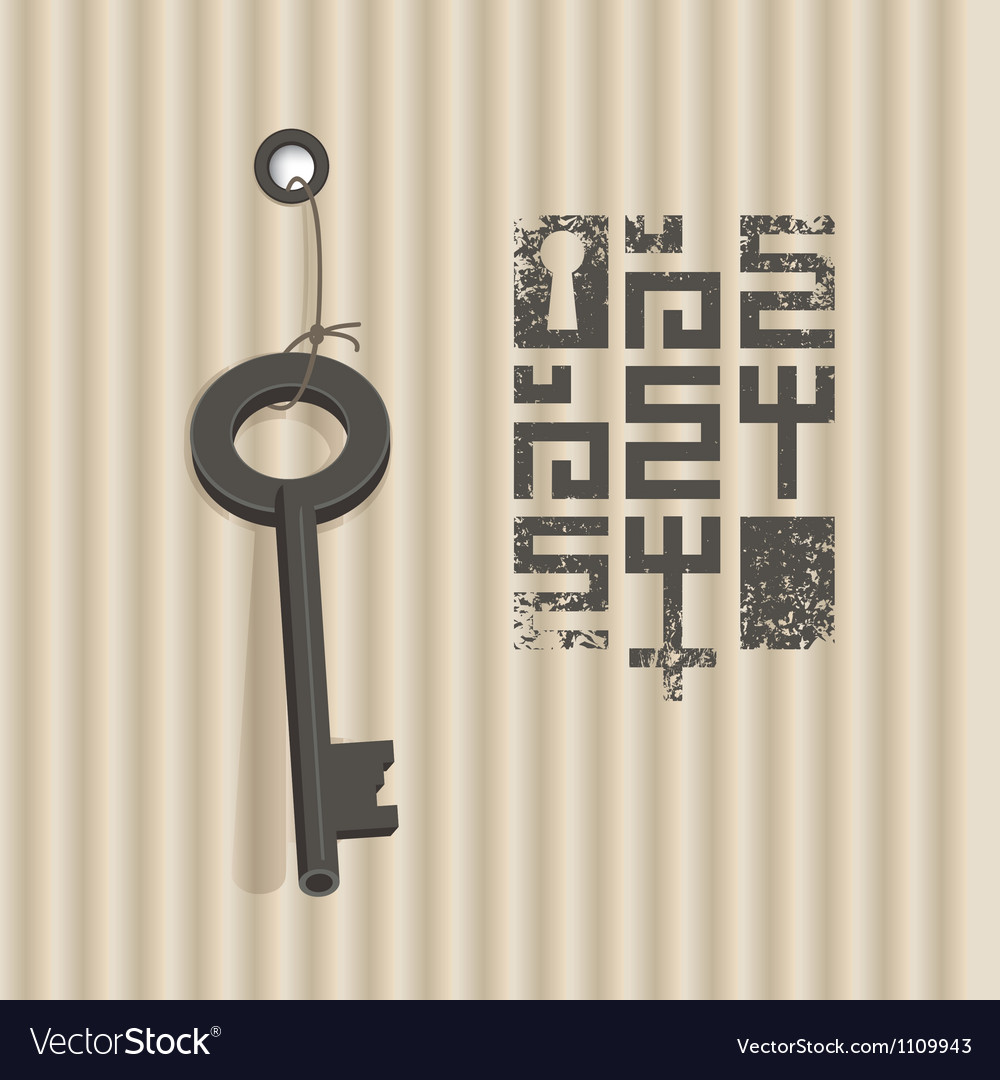 Banner with key vector | Price: 1 Credit (USD $1)
