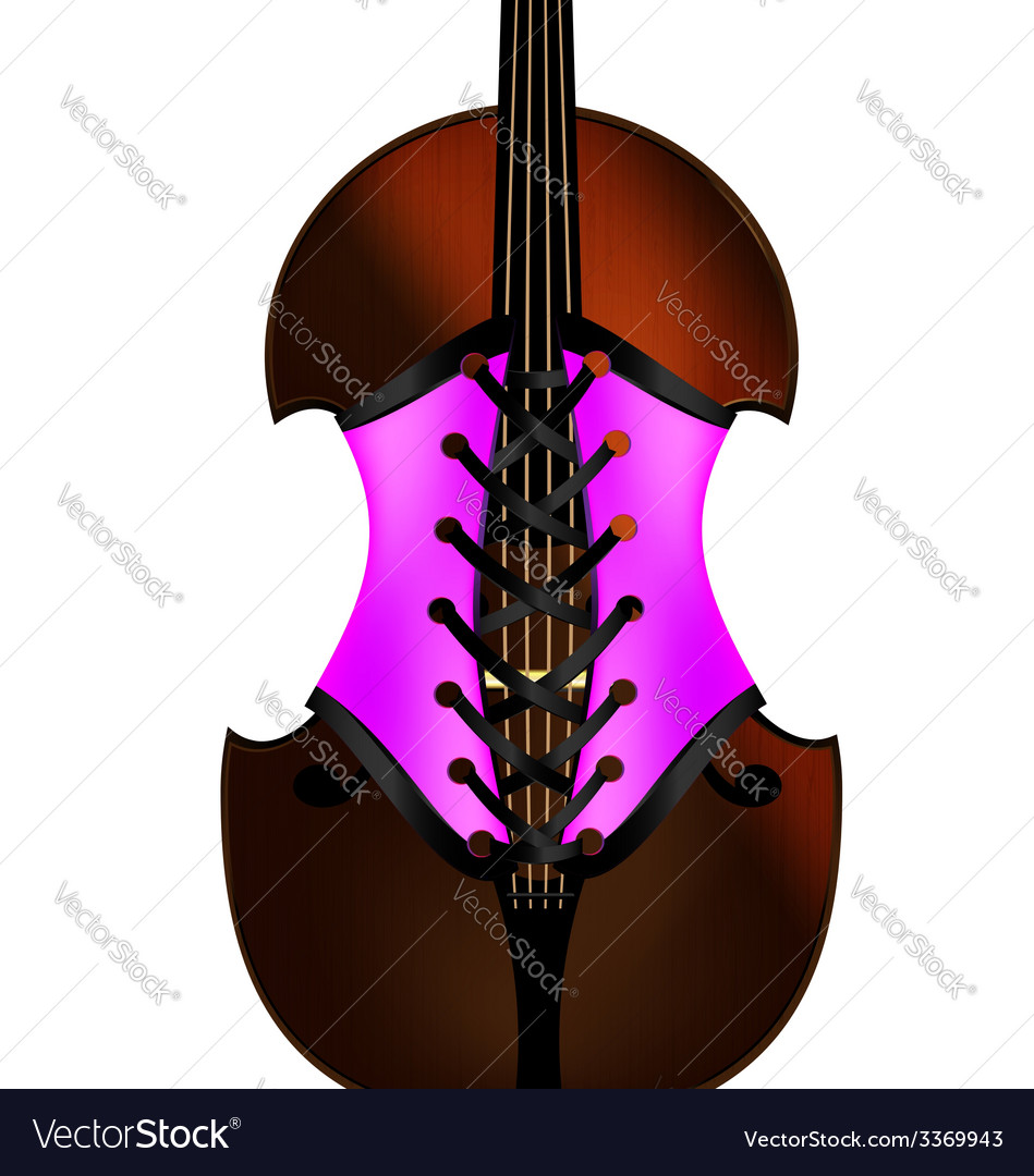 Fiddle and corset vector | Price: 1 Credit (USD $1)