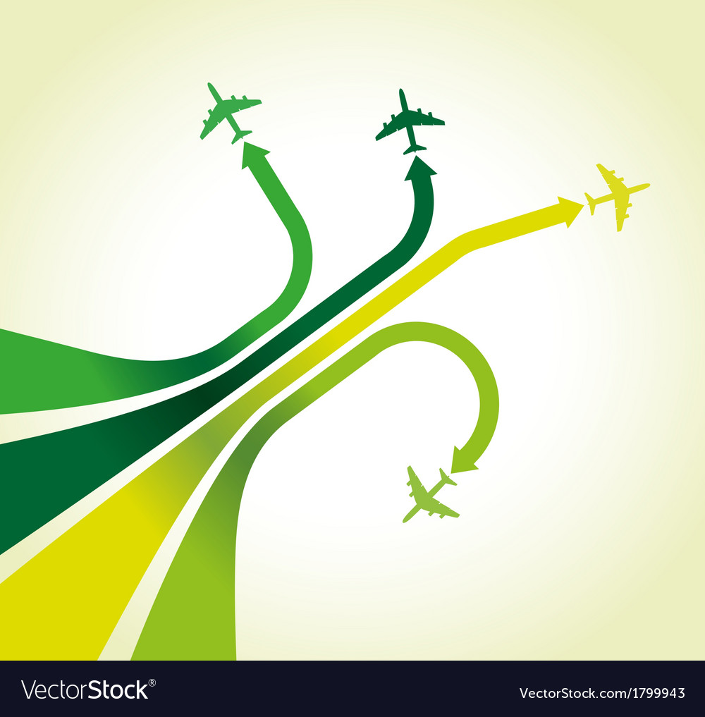 Green planes vector | Price: 1 Credit (USD $1)