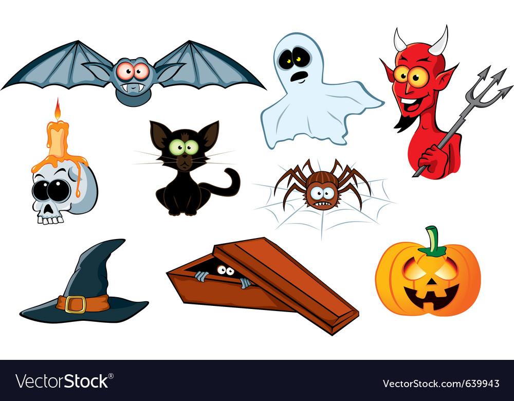 Halloween icon set vector | Price: 3 Credit (USD $3)