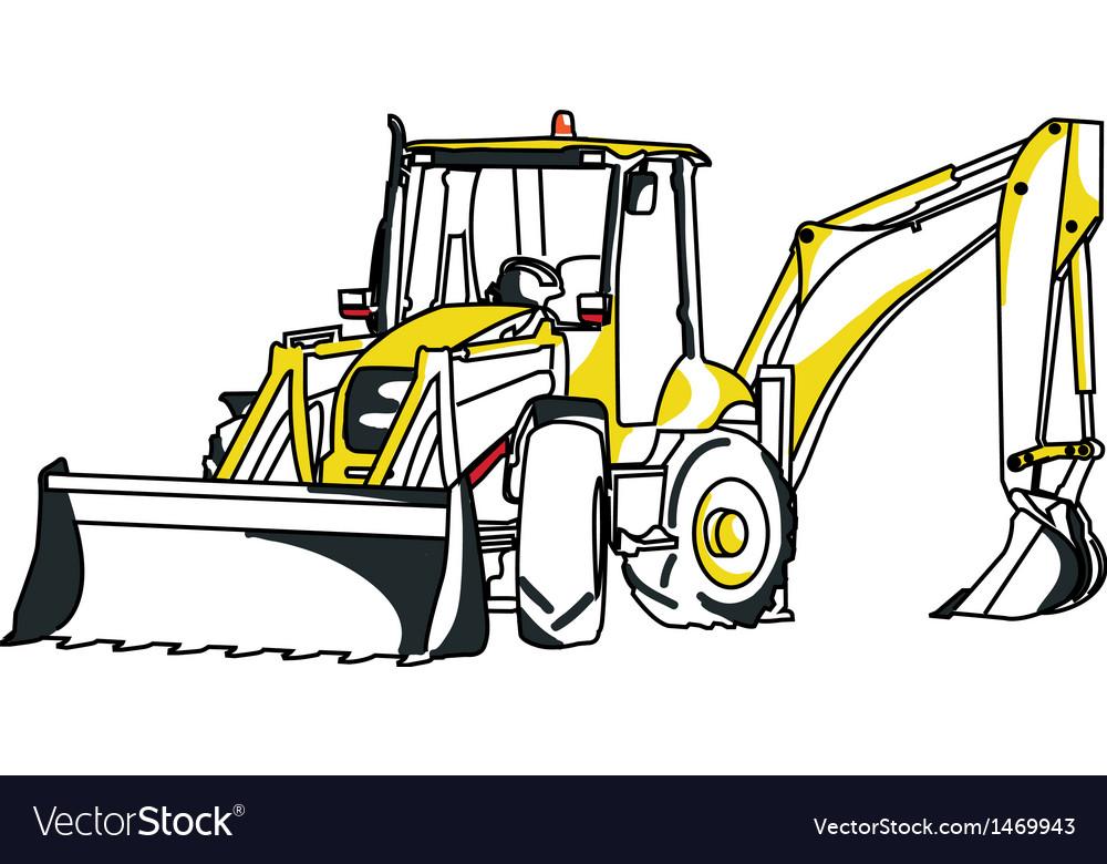 Komatsu excavator vector