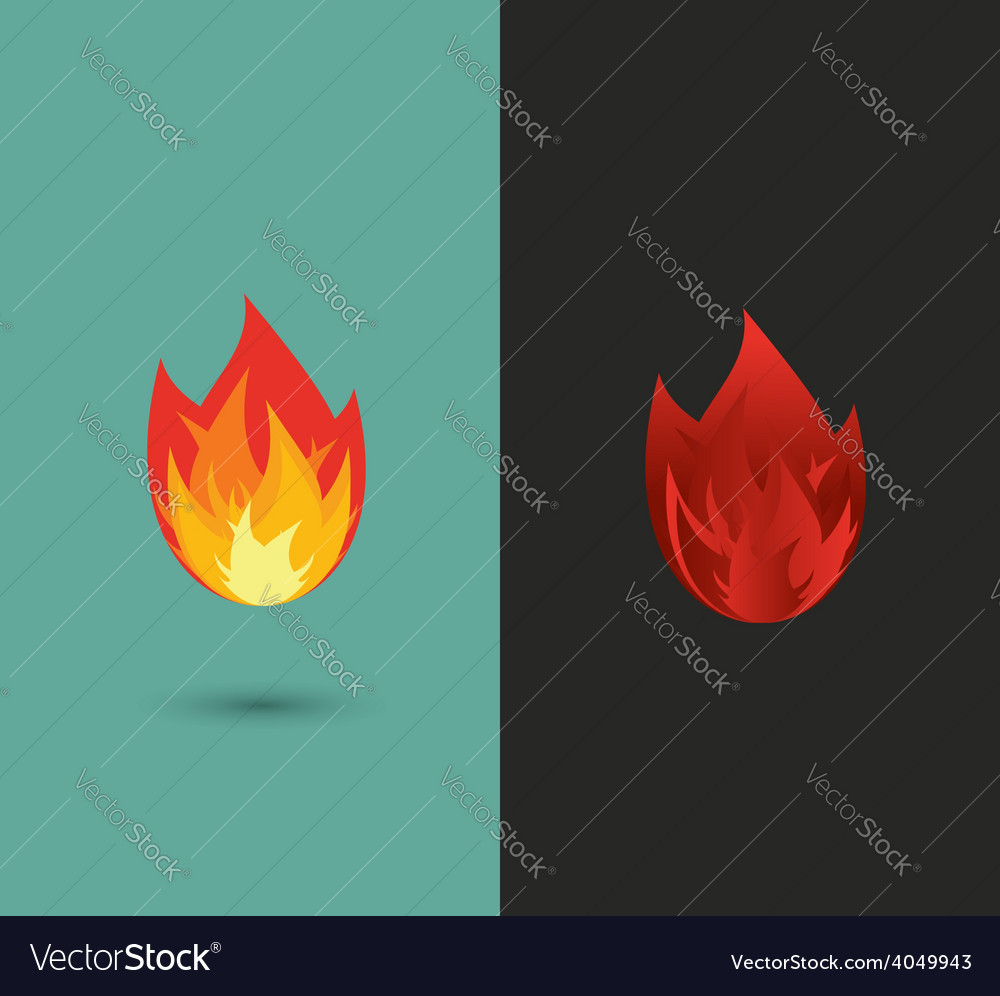 Logo fire flame icon set in format vector | Price: 1 Credit (USD $1)