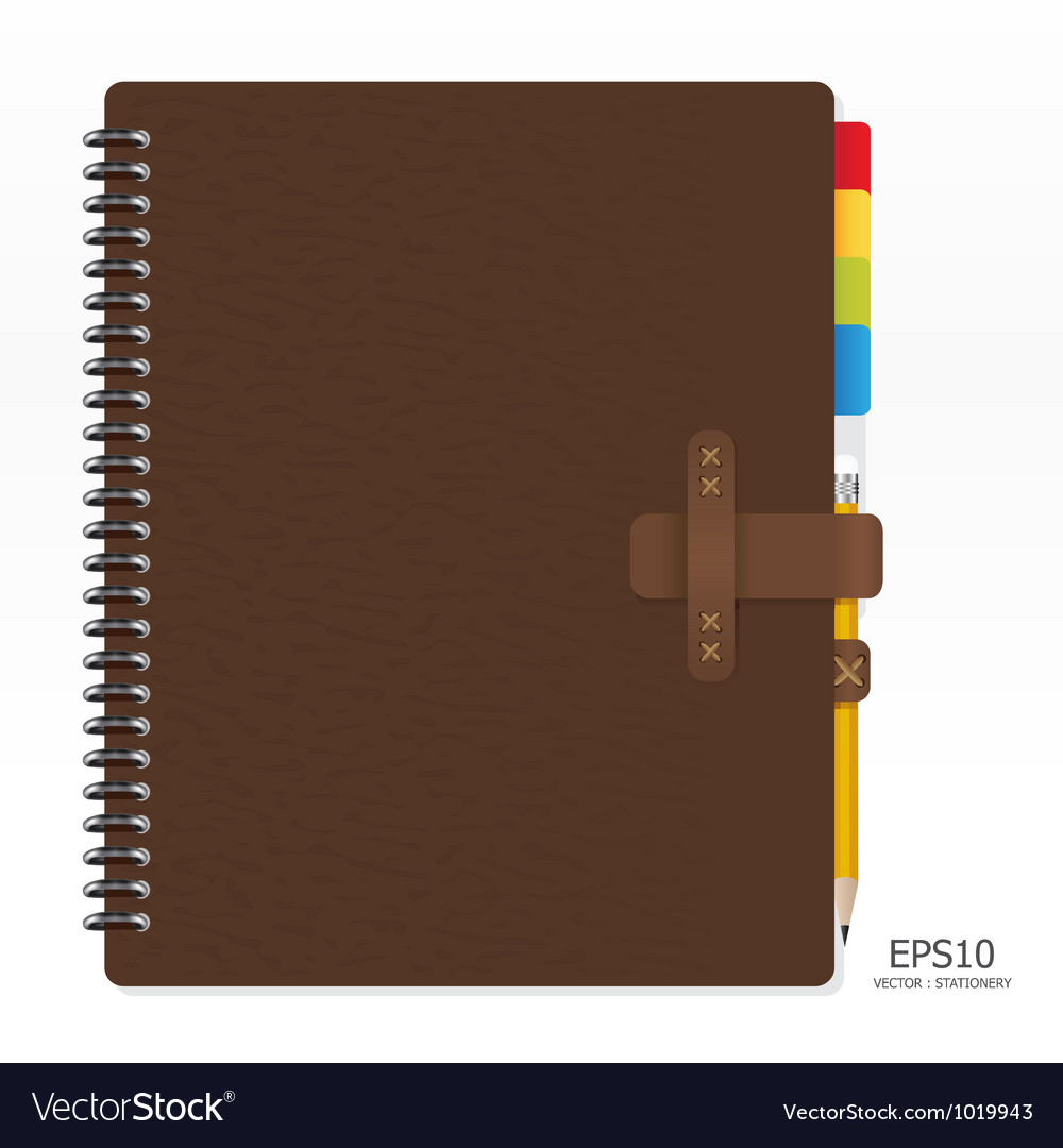 Note book with pencil vector | Price: 1 Credit (USD $1)