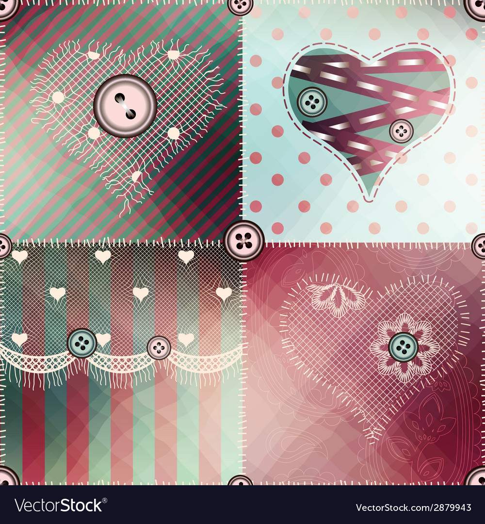Patchwork pattern with shadow vector | Price: 1 Credit (USD $1)