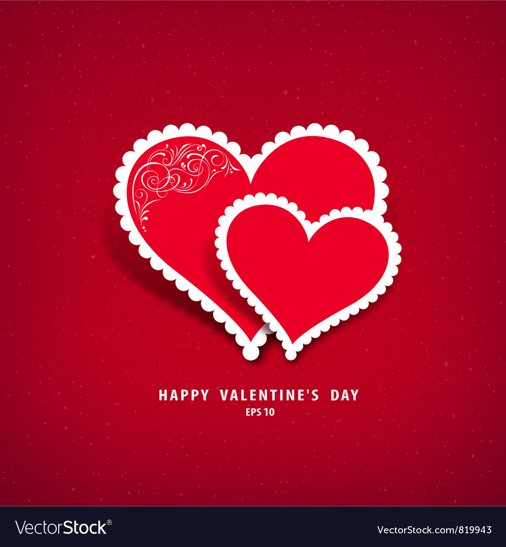 Red heart paper valentine vector | Price: 1 Credit (USD $1)