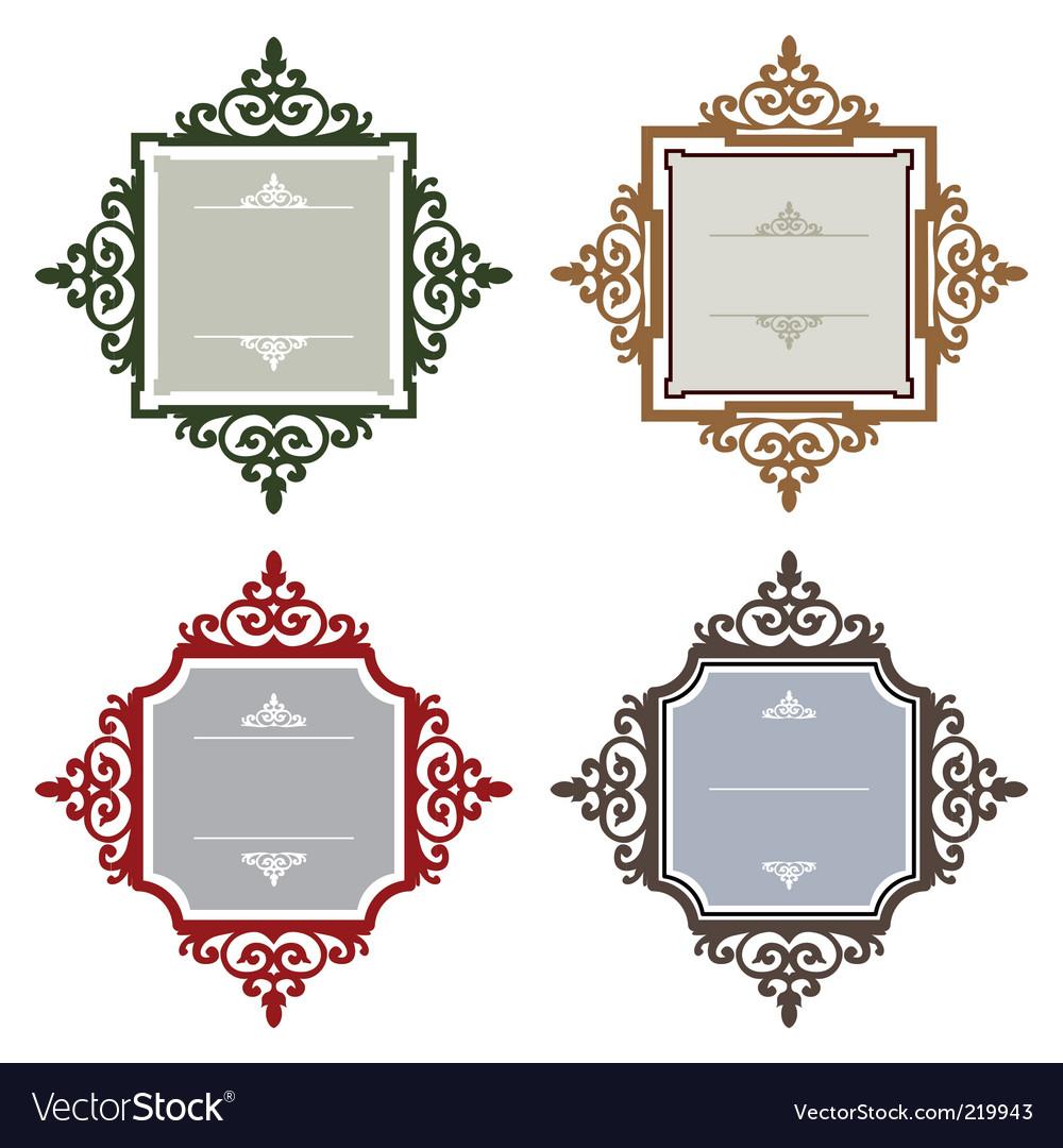 Retro frames vector | Price: 1 Credit (USD $1)