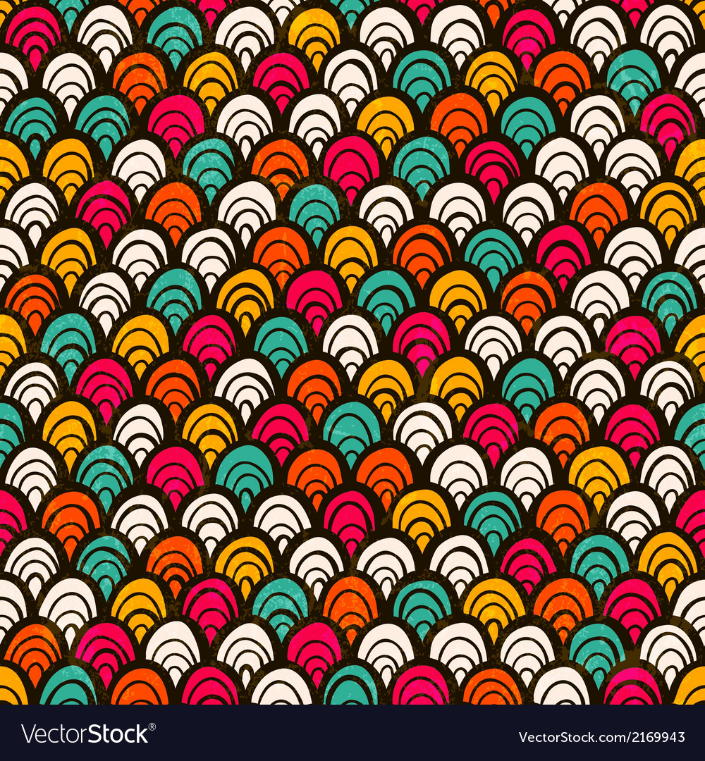 Seamless colorful hand drawn pattern vector | Price: 1 Credit (USD $1)