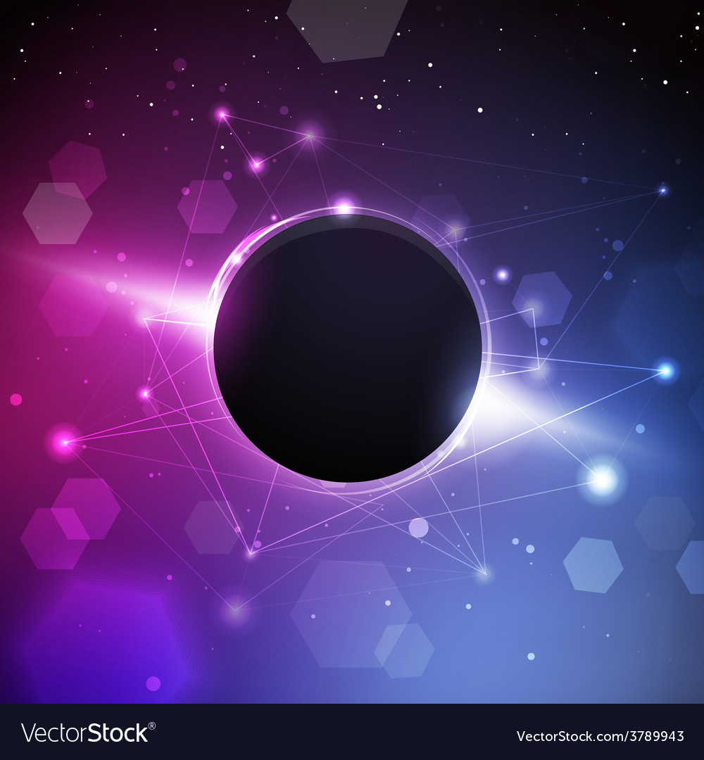 Space planet with constellation background vector | Price: 1 Credit (USD $1)