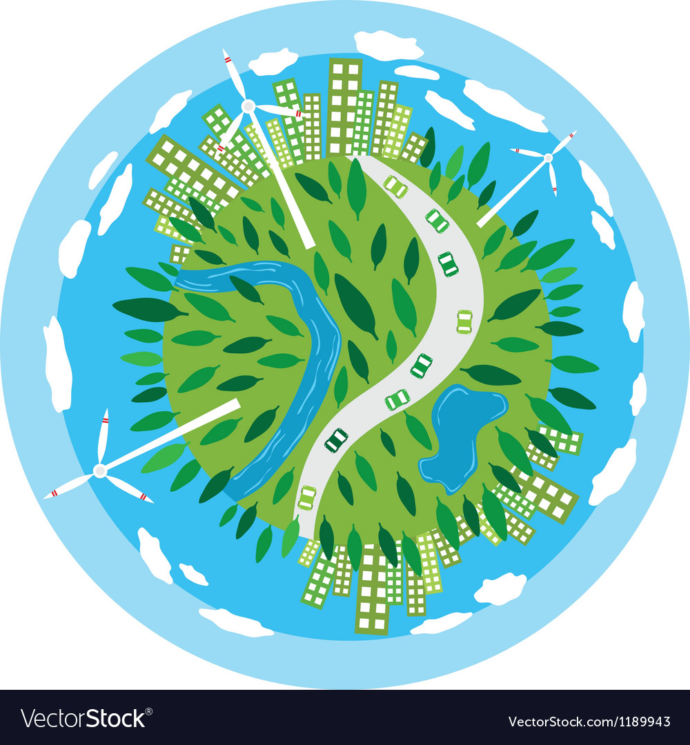 Sustainability planet vector | Price: 1 Credit (USD $1)