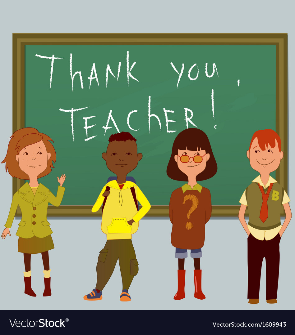 Thank you teacher vector | Price: 1 Credit (USD $1)