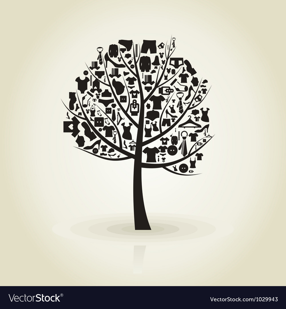 Tree clothes vector | Price: 1 Credit (USD $1)