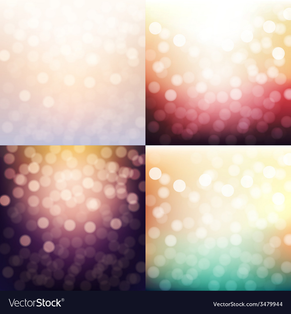 Blurred backgrounds set vector | Price: 1 Credit (USD $1)
