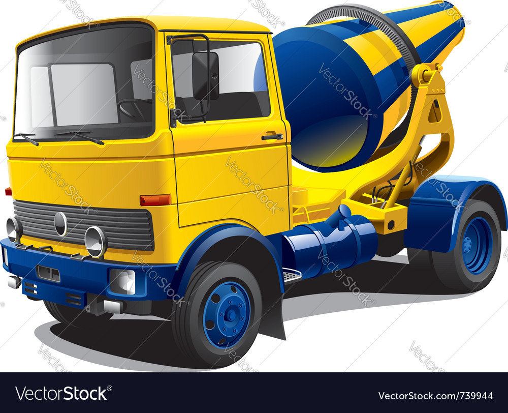 Concrete mixer truck vector | Price: 5 Credit (USD $5)