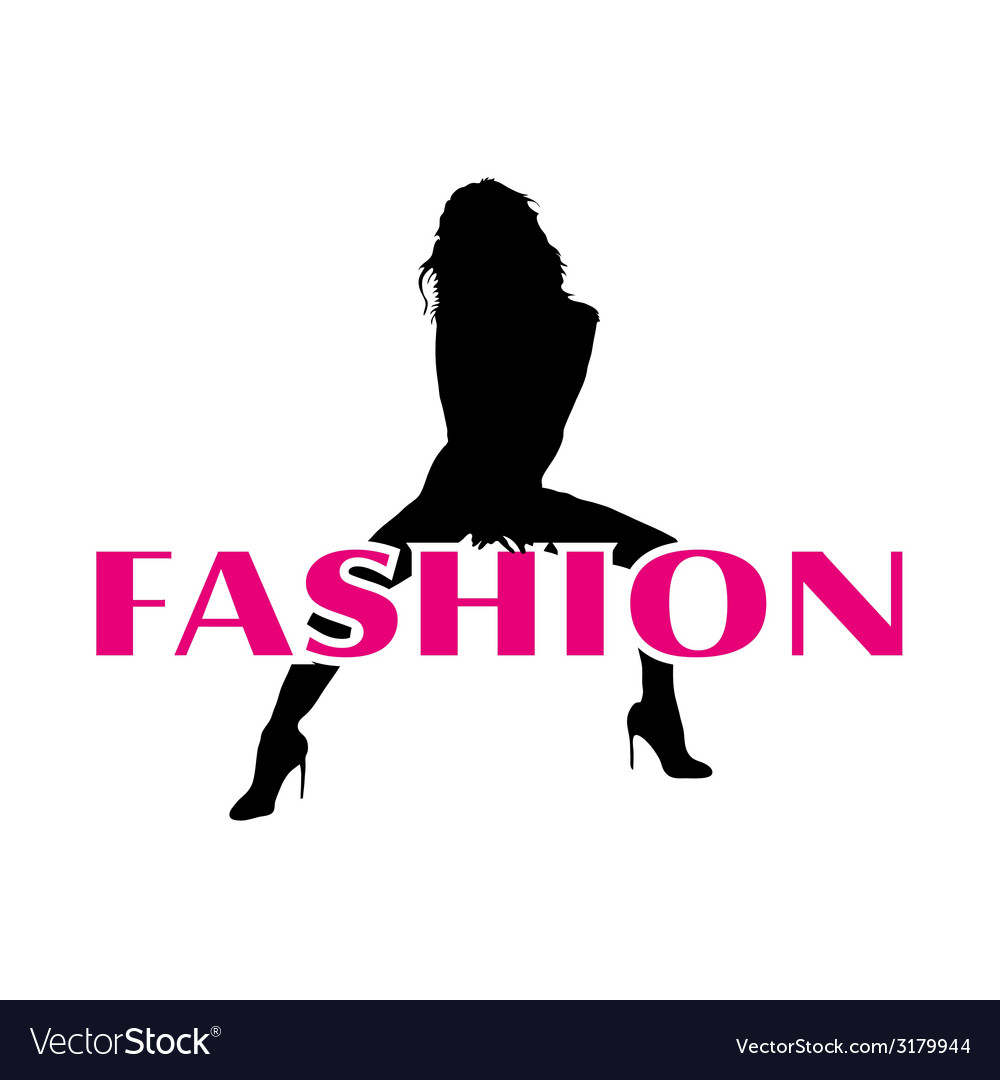 Fashion and black girl silhouette vector | Price: 1 Credit (USD $1)