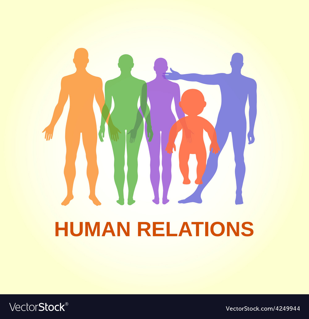 Full length front human relations vector | Price: 1 Credit (USD $1)