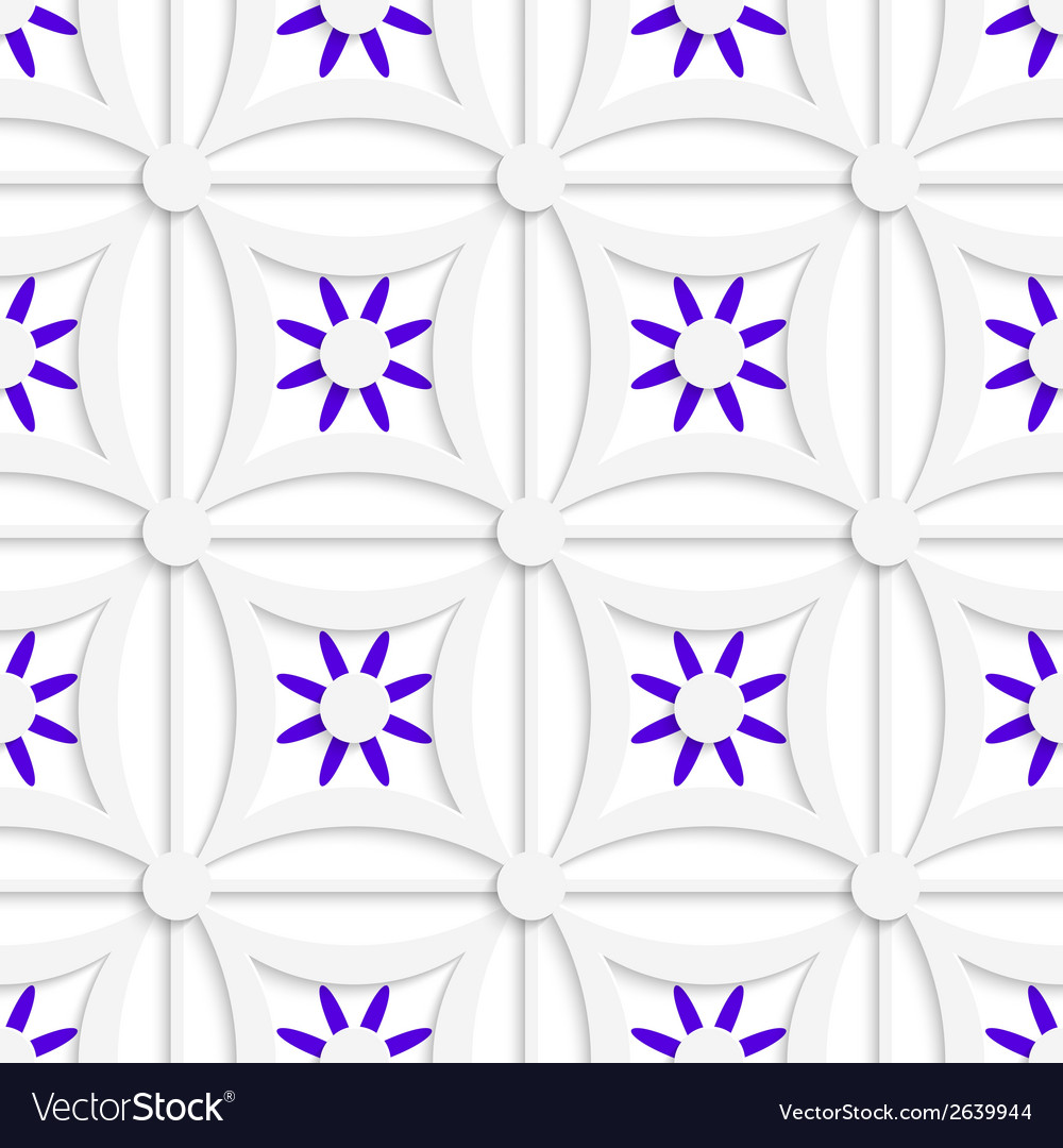 Geometric white pattern with layered purple vector | Price: 1 Credit (USD $1)