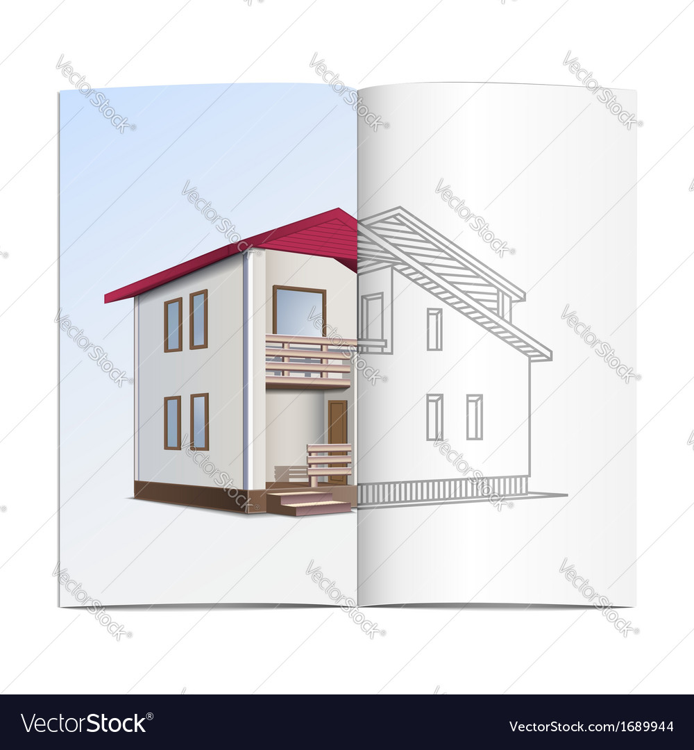 House sketch vector | Price: 1 Credit (USD $1)