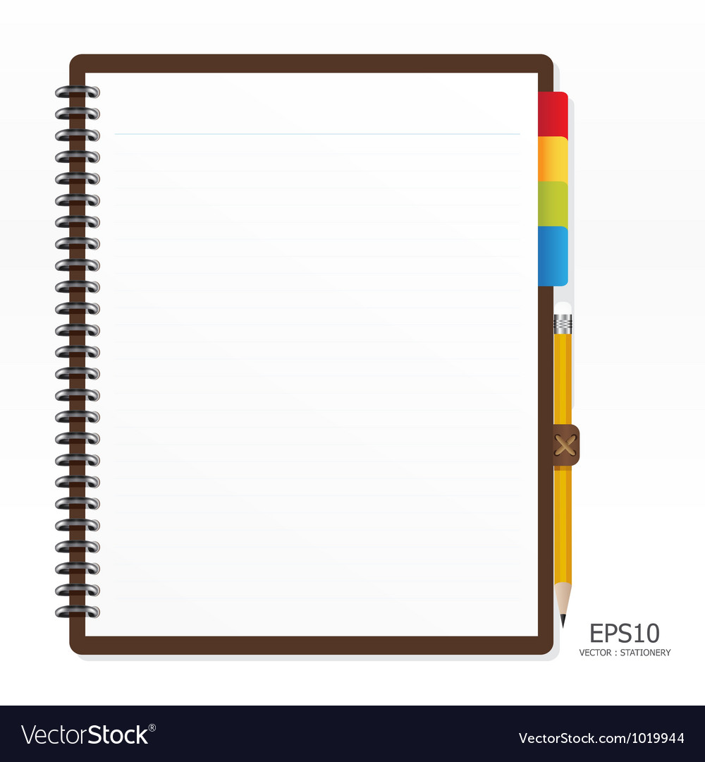 Note paper with pencil vector   Price: 1 Credit (USD $1)