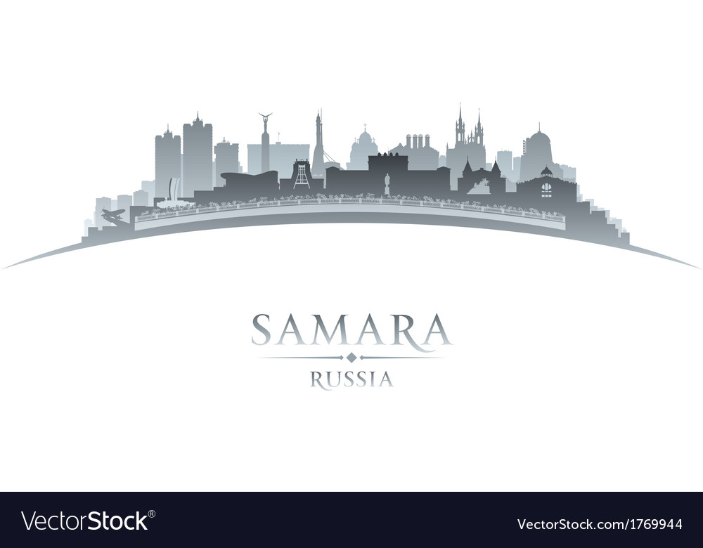 Samara russia city skyline silhouette vector | Price: 1 Credit (USD $1)