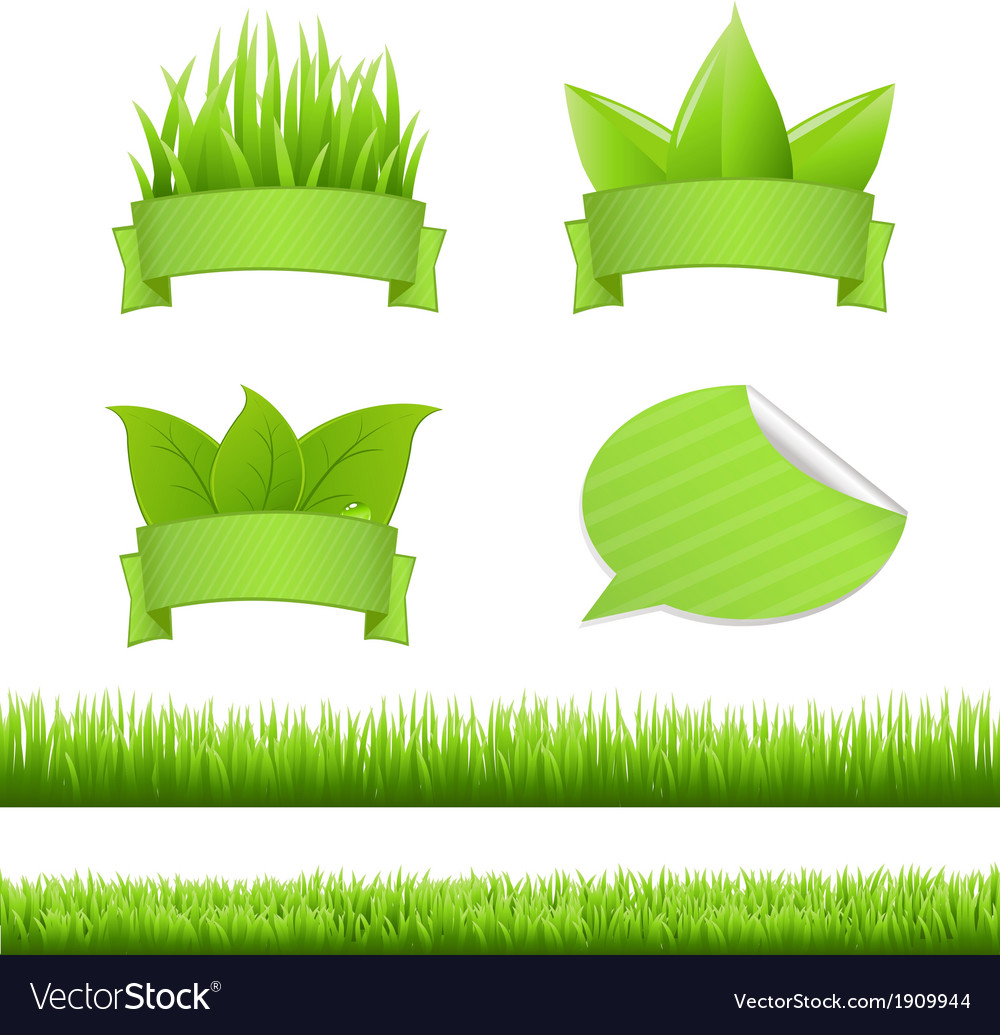 Set grass vector | Price: 1 Credit (USD $1)