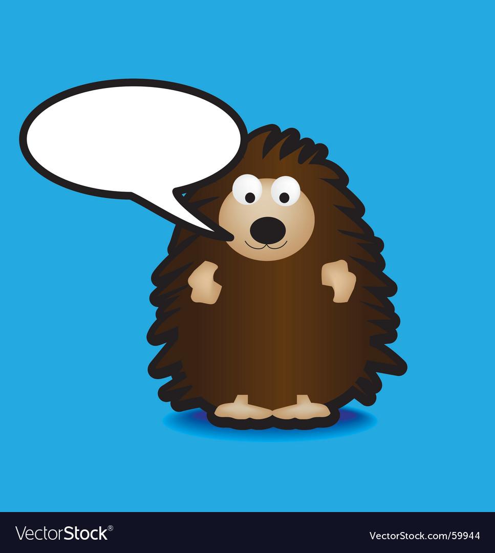 Speech hedgehog vector