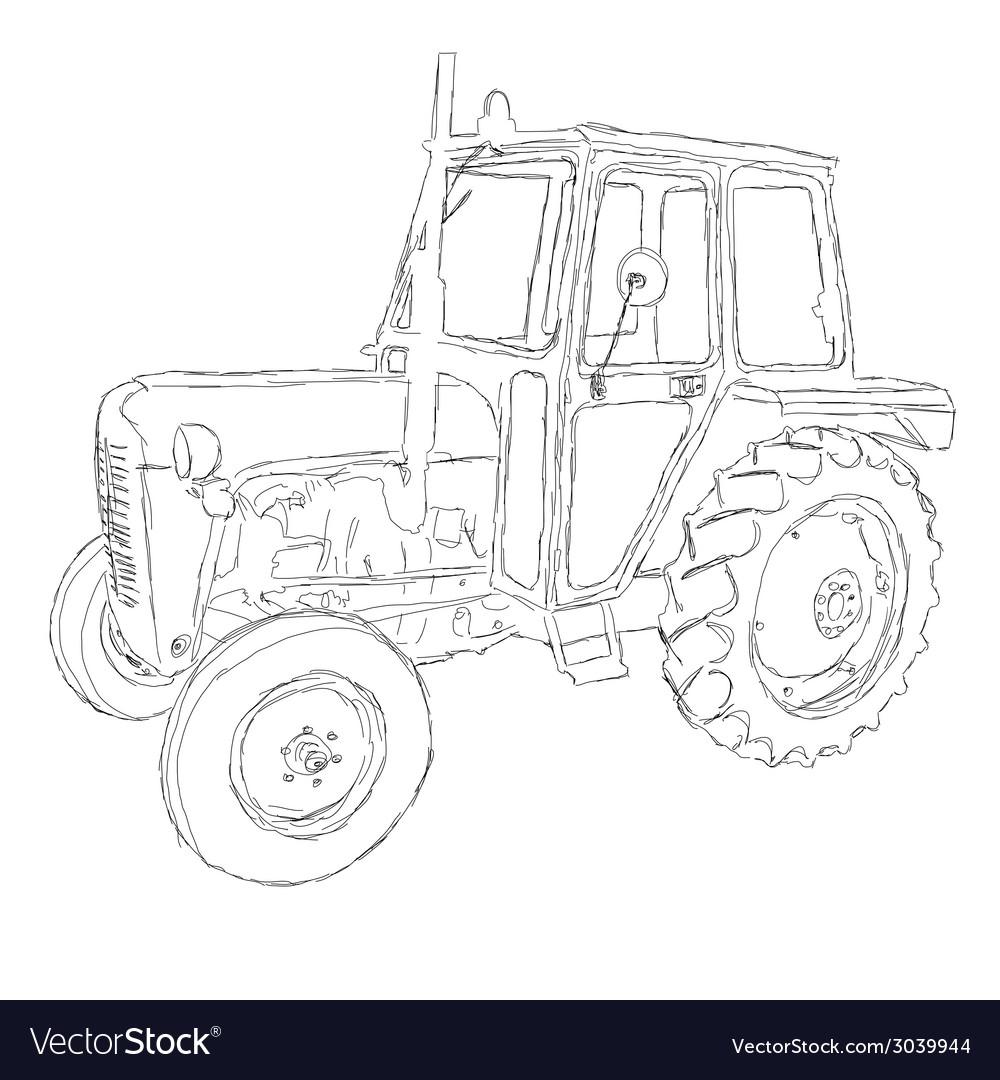 Tractor art vector | Price: 1 Credit (USD $1)