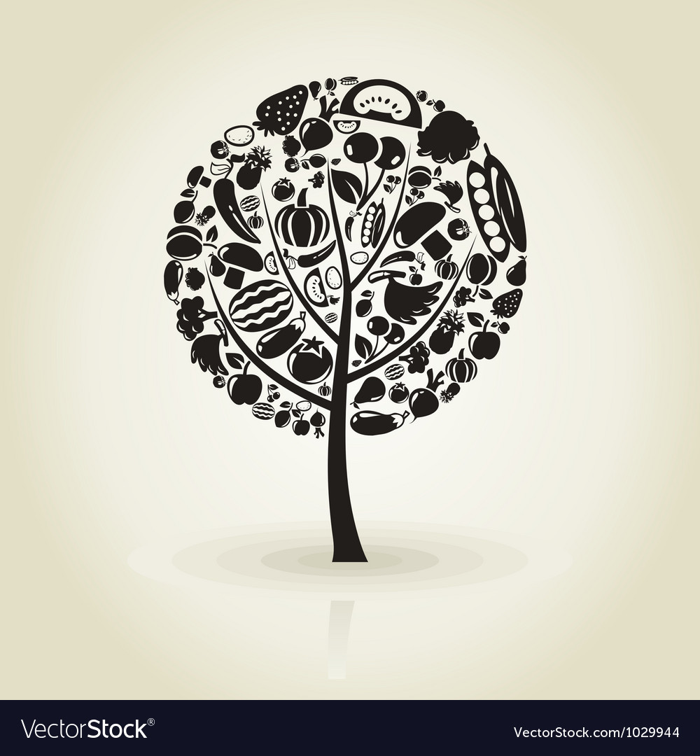 Tree fruit vector | Price: 1 Credit (USD $1)