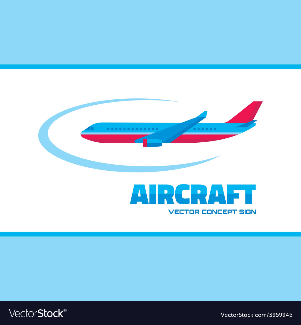 Aircraft - logo concept vector | Price: 1 Credit (USD $1)