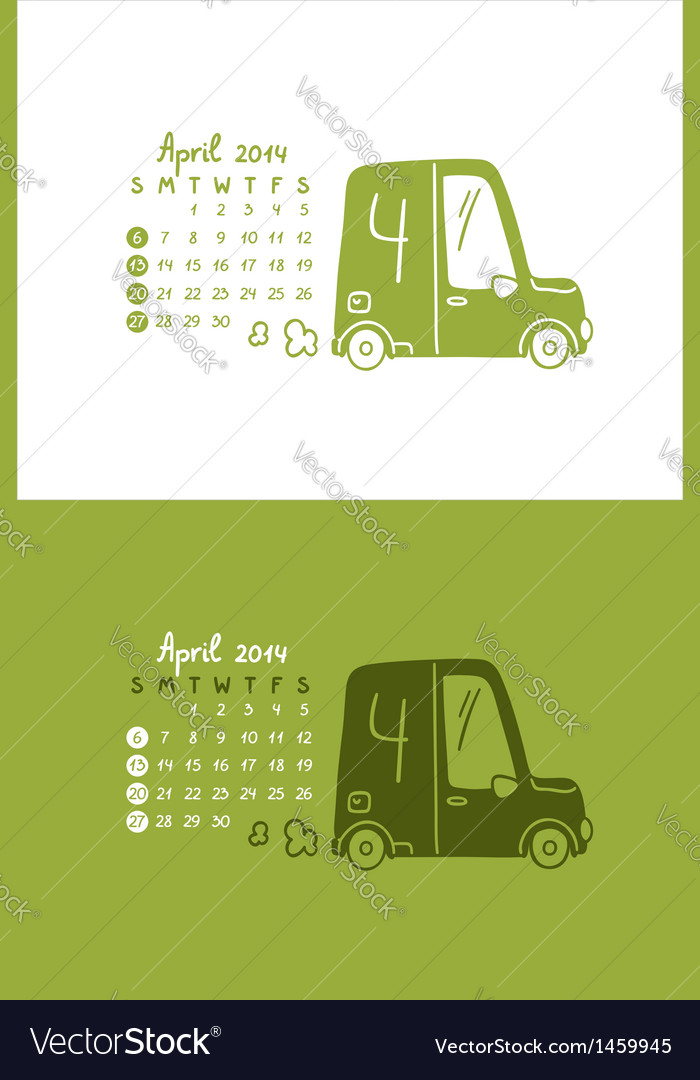 April 2014 vector | Price: 1 Credit (USD $1)