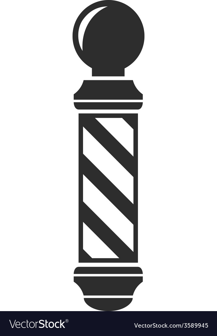 Barber shop pole sign vector | Price: 1 Credit (USD $1)