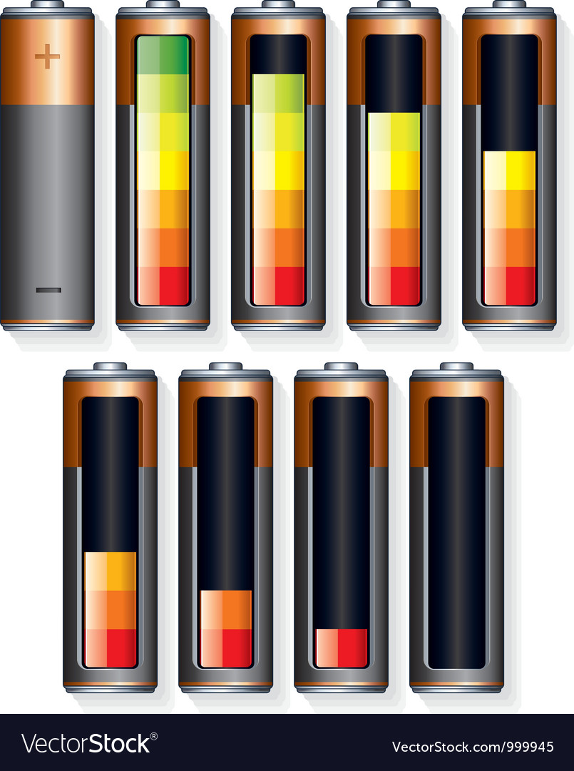 Battery level vector | Price: 1 Credit (USD $1)