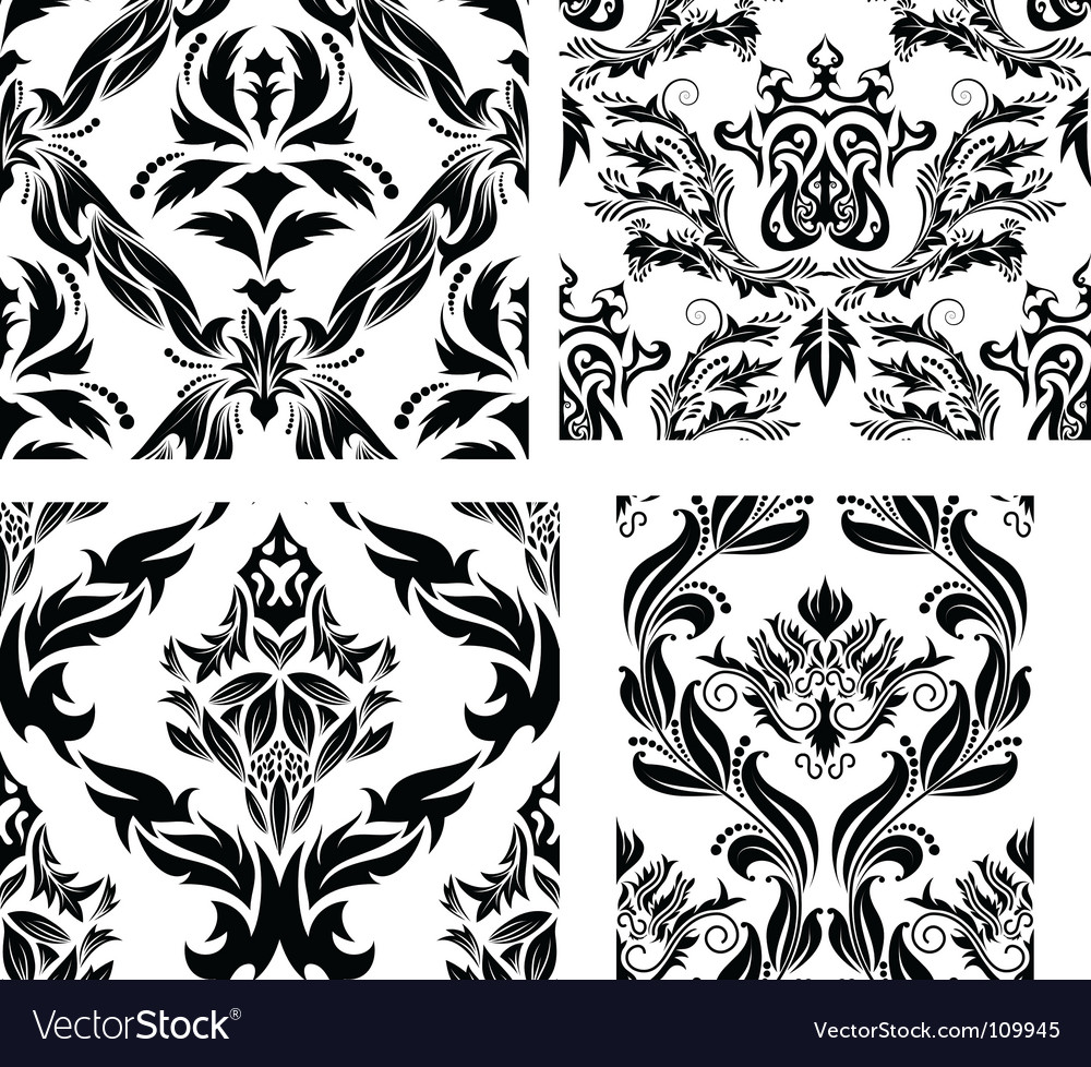 Damask patterns vector | Price: 1 Credit (USD $1)