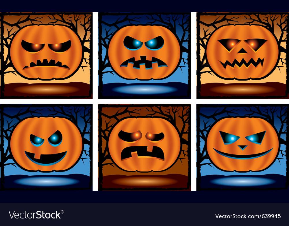 Halloween pumpkin icons vector | Price: 1 Credit (USD $1)