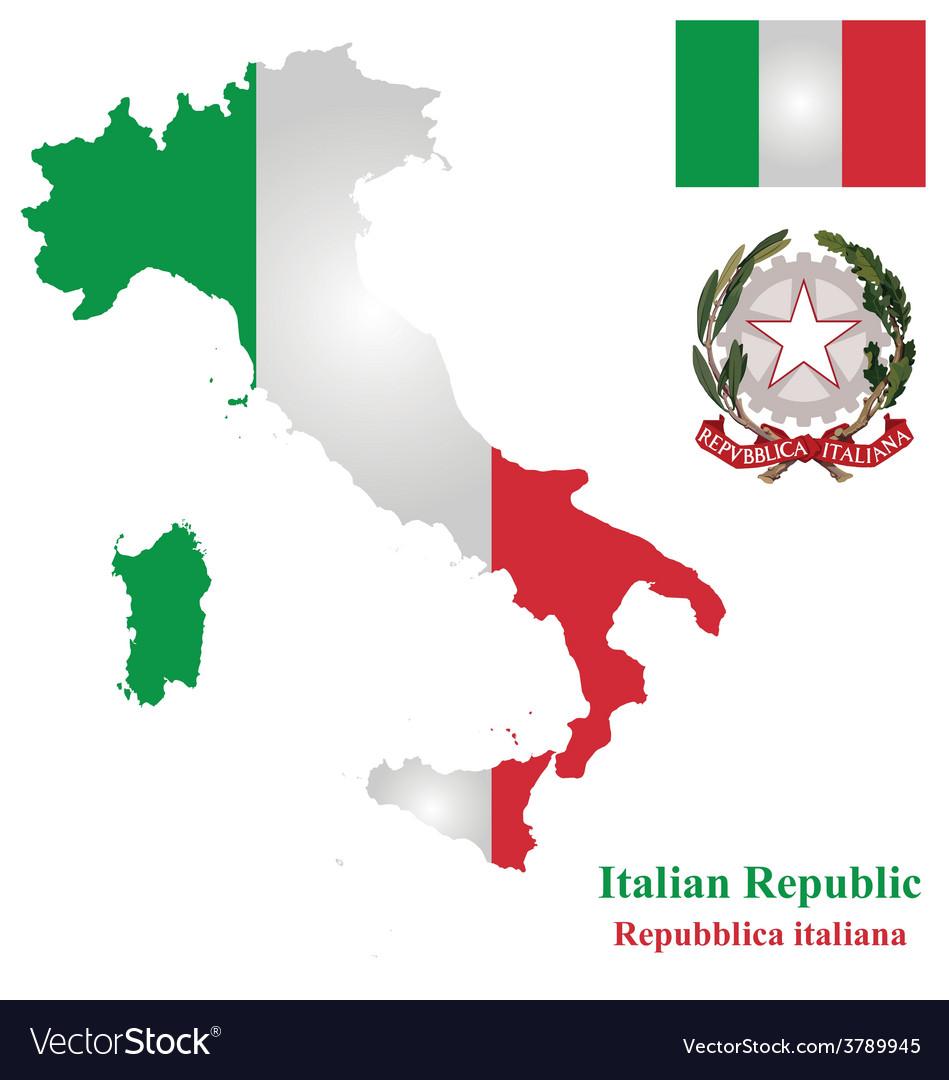 Italian flag vector | Price: 1 Credit (USD $1)