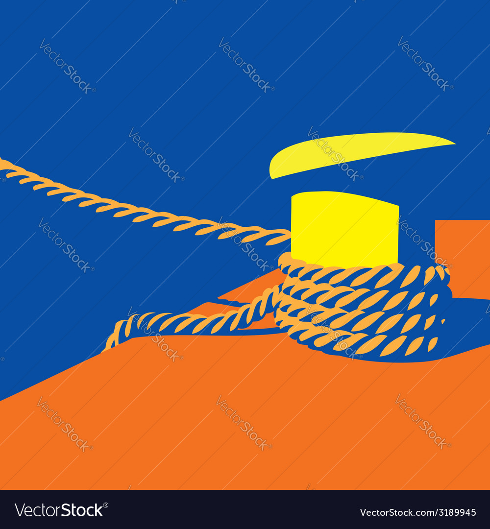 Knecht and mooring ropes vector | Price: 1 Credit (USD $1)
