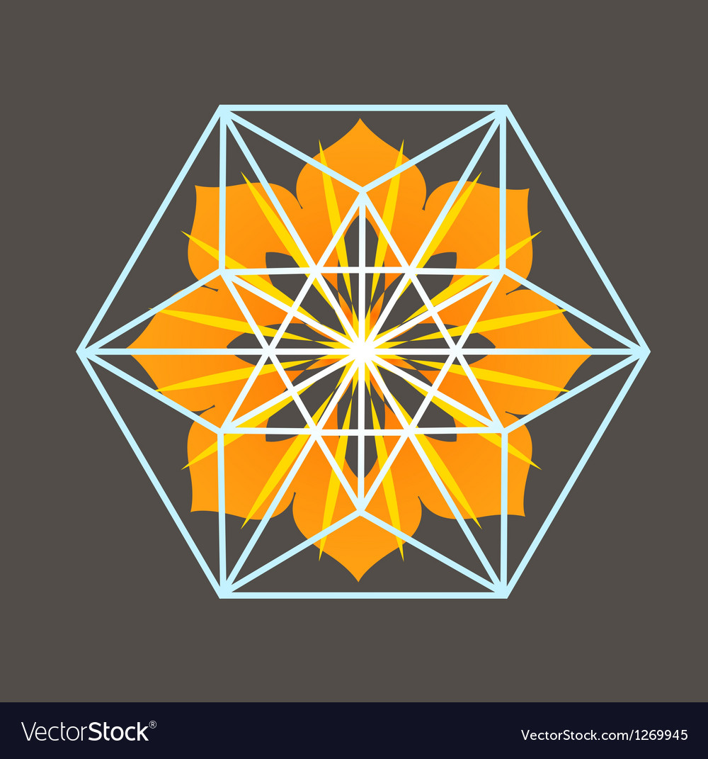 Star tetrahedron print vector | Price: 1 Credit (USD $1)