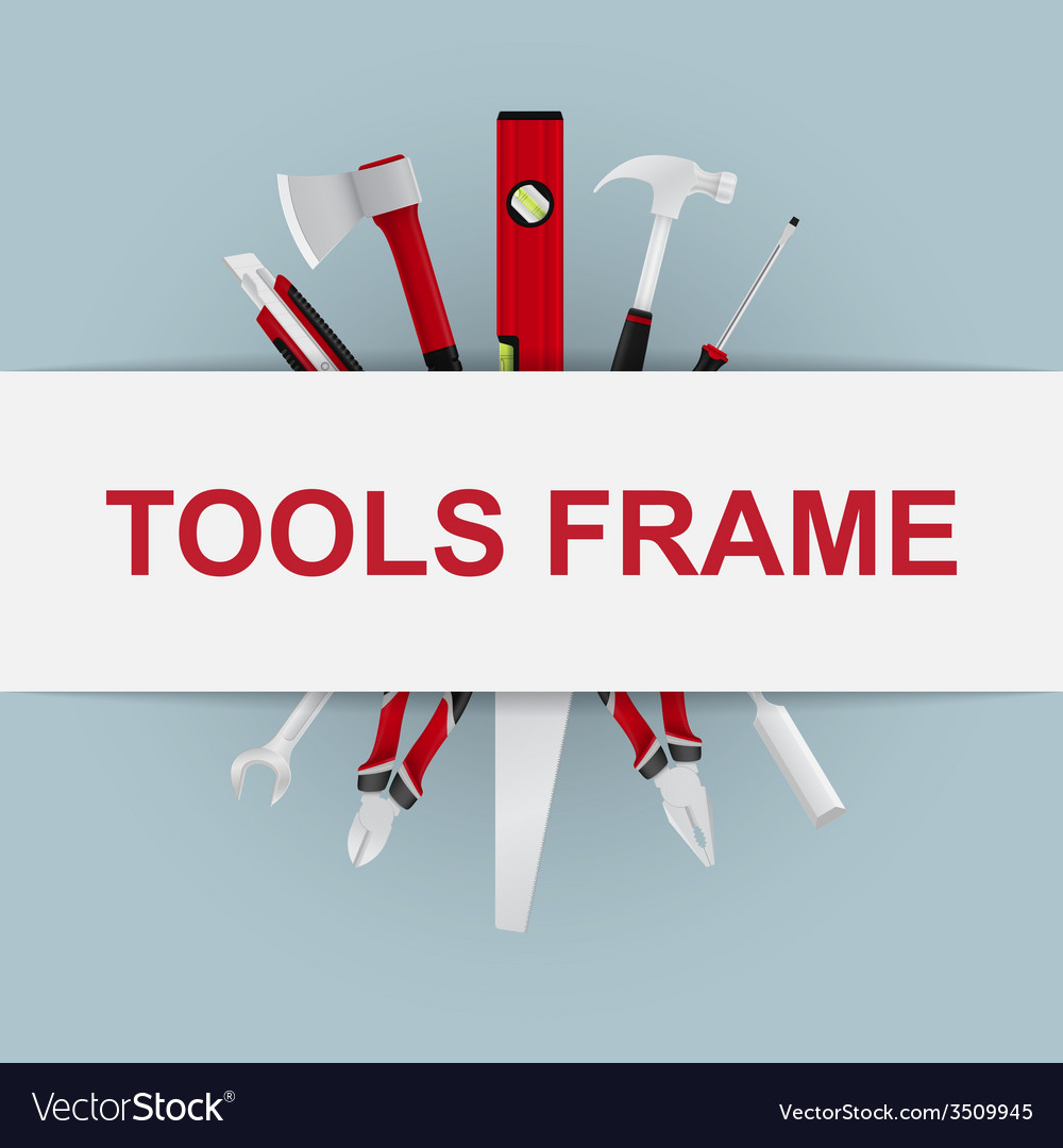 Tools frame 6 vector | Price: 1 Credit (USD $1)